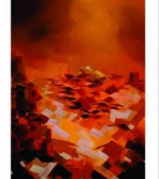 Present landscape 4 | Painting by artist Solomon Rajendiran | acrylic | Canvas