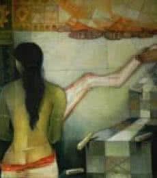 Draupadi II | Painting by artist Arun Samadder | oil | Canvas