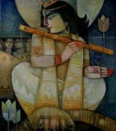 Kaliya Daman | Painting by artist Arun Samadder | oil | Canvas
