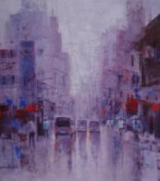 Cityscape V | Painting by artist Purnendu Mandal | acrylic | Canvas