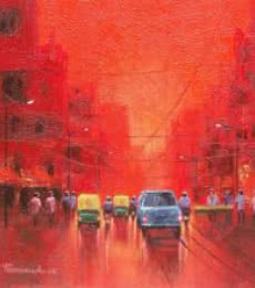 First Light | Painting by artist Purnendu Mandal | acrylic | Canvas