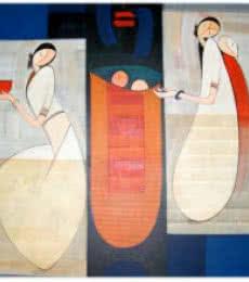 Birth Of Love | Painting by artist Dattatraya Thombare | acrylic | Canvas