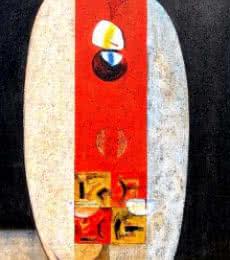 Inner Love III | Painting by artist Dattatraya Thombare | acrylic | Canvas