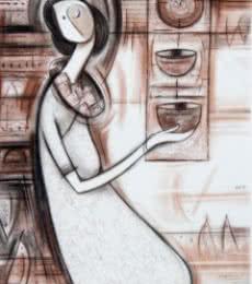 Journey V | Painting by artist Dattatraya Thombare | acrylic | Canvas