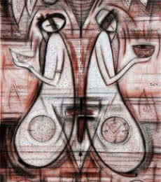 Reflection III | Painting by artist Dattatraya Thombare | acrylic | Canvas