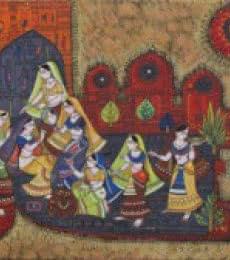 Shringaar - 1   Painting by artist Satish Chavhan   watercolor   Paper