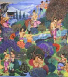 Vikramorvasiyam | Painting by artist Satish Chavhan | watercolor | Paper