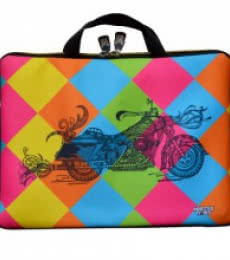 Bike Laptop Sleeve | Craft by artist Sejal M | Neoprene