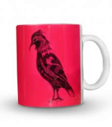 Sejal M | Bird Print Mug Craft Craft by artist Sejal M | Indian Handicraft | ArtZolo.com