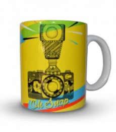 Camera Print Mug | Craft by artist Sejal M | Ceramic