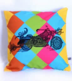 Designer Bike Cushion | Craft by artist Sejal M | Canvas