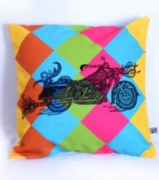 Designer Bike Cushion   Craft by artist Sejal M   Canvas