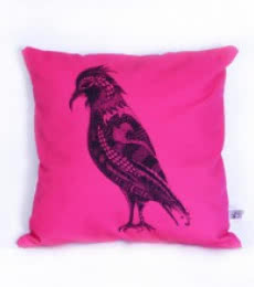 Designer Bird Cushion | Craft by artist Sejal M | Canvas