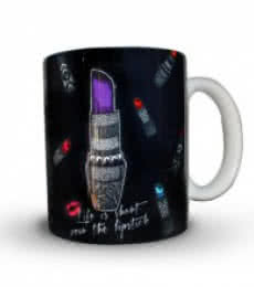 Sejal M | Lipstick Print Mug Craft Craft by artist Sejal M | Indian Handicraft | ArtZolo.com