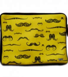 Moustache iPad Sleeve | Craft by artist Sejal M | Neoprene
