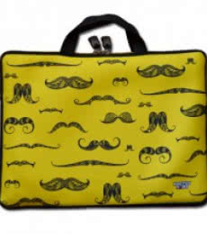 Moustache Laptop Sleeve | Craft by artist Sejal M | Neoprene