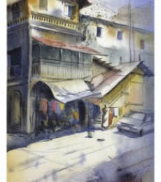 Khotachi wadi | Painting by artist Sourabh Nema | watercolor | Handmade Paper