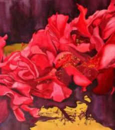 Nature Acrylic Art Painting title 'Bunch Of Flowers' by artist Balaji G. Bhange