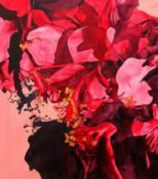 Fuchsia Flowers | Painting by artist Balaji G. Bhange | acrylic | Canvas