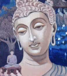 Gandhar Buddha | Painting by artist Vishwajyoti Mohrhoff | oil | Canvas