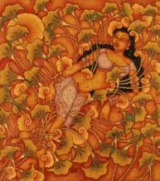 Resting Lady | Painting by artist Manikandan Punnakkal | acrylic | Canvas