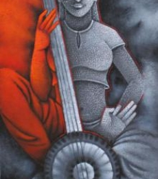 Music I | Painting by artist Satyajeet Shinde | acrylic | Canvas