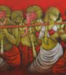 Music IV | Painting by artist Satyajeet Shinde | acrylic | Canvas