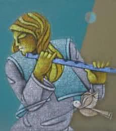 Music IX   Painting by artist Satyajeet Shinde   acrylic   Canvas