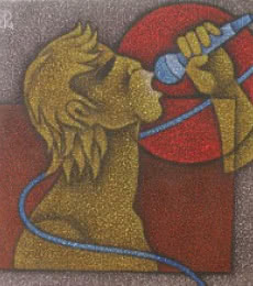 Singer II | Painting by artist Satyajeet Shinde | acrylic | Canvas