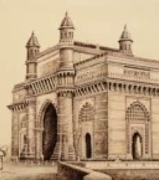 Gate Way Of India Bombay | Drawing by artist Aman A |  | ink | Canvas