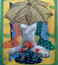 Under The Shadow | Painting by artist Deepak Kumar Ambuj | acrylic | Canvas
