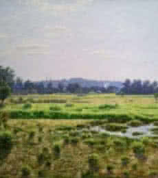 Landscape Oil Art Painting title 'Aarre mumbai' by artist Sanjay Sarfare
