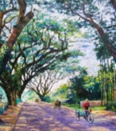 Barun Singh Paintings | Nature Painting - Northbengal by artist Barun Singh | ArtZolo.com