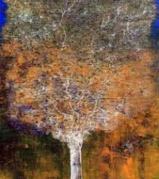 Tree Of Life Orange   Painting by artist Bhaskar Rao   acrylic   Canvas