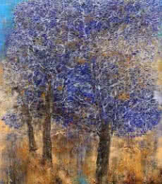 Tree Of Life Purple | Painting by artist Bhaskar Rao | acrylic | Canvas