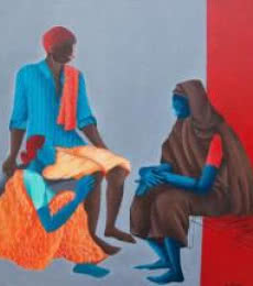 Visitor | Painting by artist Abhiram Bairu | acrylic | Canvas