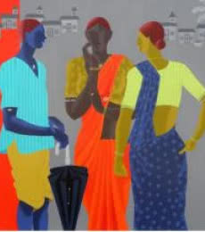 Gather | Painting by artist Abhiram Bairu | acrylic | Canvas