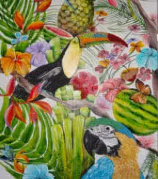 Tropical Summer | Painting by artist Francesca Monico | acrylic | Canvas