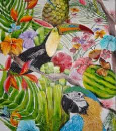 Tropical Summer  | Painting by artist Francesca Monico | acrylic | Canvas