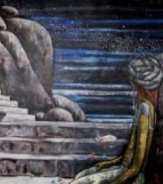 Figurative Acrylic Art Painting title 'My Existence' by artist Suruchi Jamkar