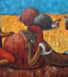Playful Conversation | Painting by artist Suruchi Jamkar | oil | Canvas