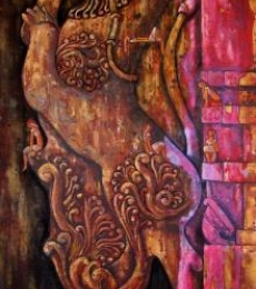 Suruchi Jamkar | Oil Painting title Yali The Protector Of The Gates on Canvas | Artist Suruchi Jamkar Gallery | ArtZolo.com