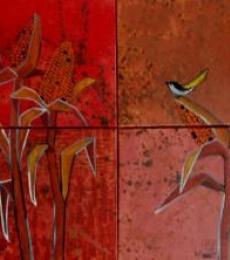 Corn Fields Acrylics On Canvas | Painting by artist Suruchi Jamkar | acrylic | Canvas