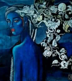Figurative Acrylic Art Painting title 'Designs Of A Beautiful Mind' by artist Suruchi Jamkar