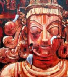 Fantasy Acrylic Art Painting title Exploring The Divine Ii by artist Suruchi Jamkar