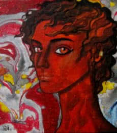 Figurative Oil Art Painting title Passionate thoughts by artist Suruchi Jamkar