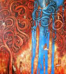 Intricacies Of Life | Painting by artist Suruchi Jamkar | oil | Canvas