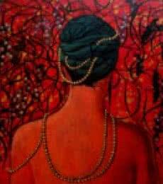 Figurative Acrylic Art Painting title 'Pearls Of Wisdom' by artist Suruchi Jamkar