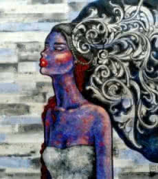 The Thinker | Painting by artist Suruchi Jamkar | acrylic | Canvas