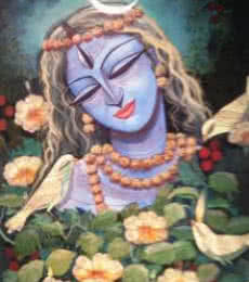 Devi III | Painting by artist DEVIRANI DASGUPTA | mixed-media | Canvas Paper